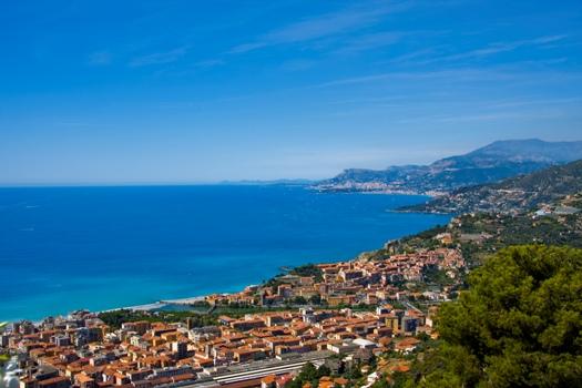 La côte d'Azur au sud de France